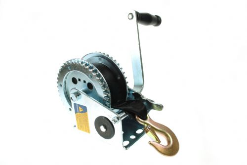 Maypole Boat Trailer Winch 500kg  complete with Strap and Zinc Plated Hook.